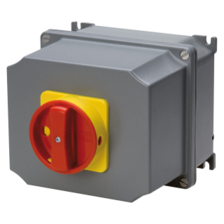 ROTARY CONTROL SWITCH - SURFACE MOUNTING - EMERGENCY VERSION - ATEX - ALLUMINIM BOX - RED KNOB - 3P 63A - IP65