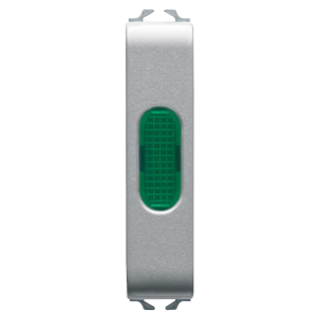 SINGLE INDICATOR LAMP - GREEN - 1/2 MODULE - TITANIUM - CHORUS