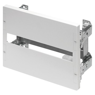 Kit of moulded-case devices and switch-disconnectors - fixing by means of uprights 2-module panel height - Grey RAL 7035