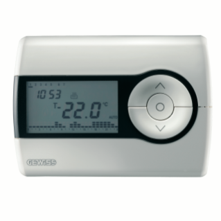 WALL-MOUNTING TIMED THERMOSTAT - DAILY/WEEKLY PROGRAMMING - BATTERY- POWERED - WHITE