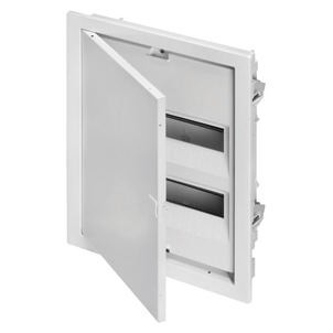 Enclosures for plasterboard walls equipped with bipolar terminal blocks - White RAL 9003
