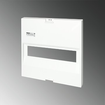Plastic frontal for flush-mounting enclosures