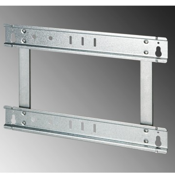 Extractable frame for flush-mounting enclosure