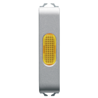 SINGLE INDICATOR LAMP - AMBER - 1/2 MODULE - TITANIUM - CHORUS