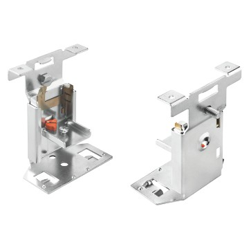 Fast & Easy quick assembly brackets kit with support slide, adjustable for DIN rails