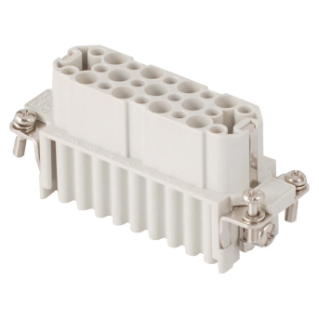 FEMALE INSERT - 66X16 - 25P+E 10A 250V/4kV/3 - CRIMP CONNECTION - GREY