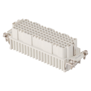 FEMALE INSERT - 104X27 - 108P+E 10A 250V/4kV/3 - CRIMP CONNECTION - GREY