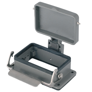 BULKHEAD MOUNTING HOUSING - 66X16 - SINGLE LEVER - WITH COVER - 500V - METAL