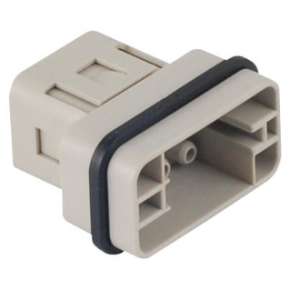 MALE INSERT - 32X13 - 8P+E 16A 500V/6kV/3 - CRIMP CONNECTION - GREY