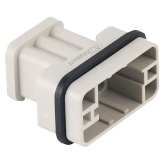 MALE INSERT - 32X13 - 17P+E 10A 250V/4kV/3 - CRIMP CONNECTION - GREY