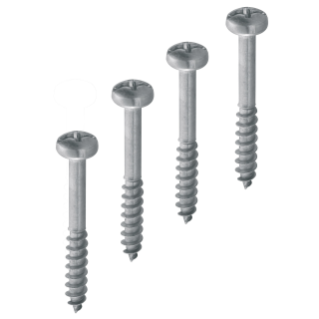 KIT 4 SELF-THREADING STEEL SCREWS - FOR SQUARE ACCES CHAMBER 300X300X300