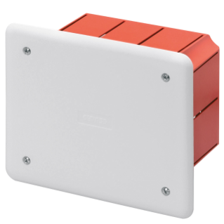 JUNCTION AND CONNECTION BOX - FOR BRICK WALLS - DIMENSIONS 118X96X70 - WHITE LID RAL9016