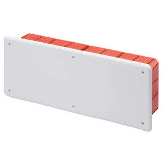 JUNCTION AND CONNECTION BOX - FOR BRICK WALLS - WITH DIN RAIL - DIMENSIONS 392X152X75 - WHITE LID RAL9016