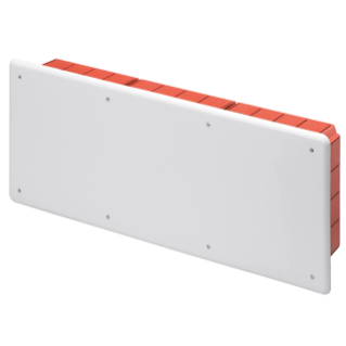 JUNCTION AND CONNECTION BOX - FOR BRICK WALLS - WITH DIN RAIL - DIMENSIONS 516X202X90 - WHITE LID RAL9016