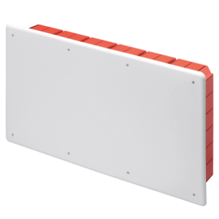 JUNCTION AND CONNECTION BOX - FOR BRICK WALLS - WITH DIN RAIL - DIMENSIONS 516X294X90 - WHITE LID RAL9016