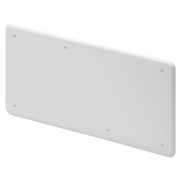 High-resistance shockproof plain covers for PT DIN and PT DIN GREEN WALL boxes White RAL 9016 - IP40
