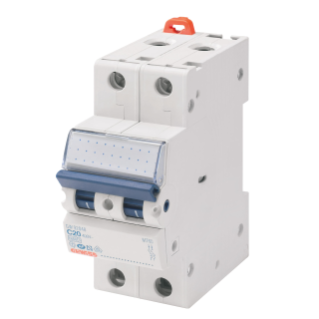 MINIATURE CIRCUIT BREAKER - MT45 - 2P CHARACTERISTIC C 6A - 2 MODULES