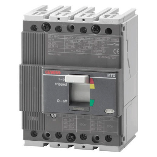 MTX range Moulded case circuit breakers for power distribution