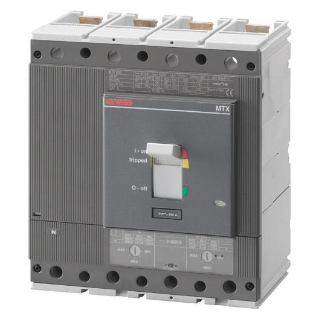 MTX 630 - MOULDED CASE CIRCUIT BREAKER - TYPE S - 50KA 4P 400A TM2 RELEASE IM=5-10In