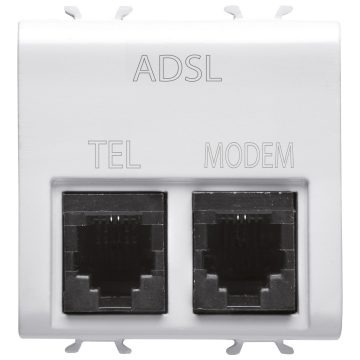 Double RJ11 socket with ADSL filter