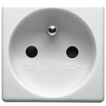 French standard socket-outlet with safety shutters - 250 V ~