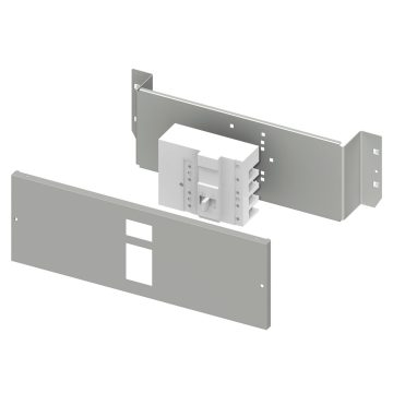 Installation kit for MCCB's up to 500 A with add-on residual current device in fixed assembly complete with perforated front panel and fixing plate