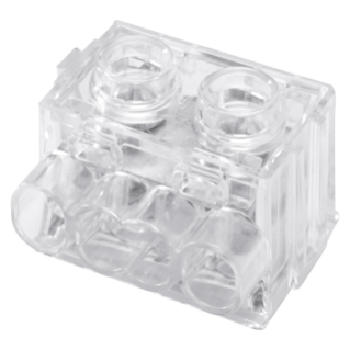TERMINAL BLOCKS WITH PLATE TIGHTENING - 4X6MMQ - 450V - TRANSPARENT