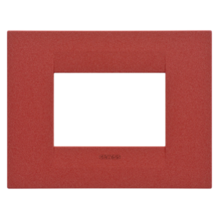 GEO PLATE - IN VARNISHED TECHNOPOLYMER - 3 GANG - RUBY - CHORUS