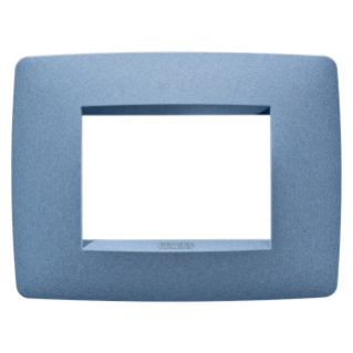 ONE PLATE - IN PAINTED TECHNOPOLYMER - 3 GANG - SEA BLUE - CHORUS