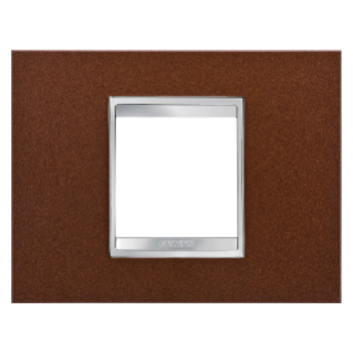 LUX PLATE - METAL - 2 GANG - OXIDISED FINISH - CHORUS