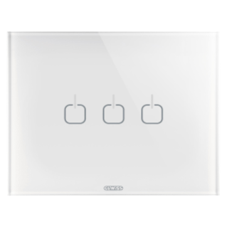 ICE TOUCH PLATE - GLASS - 3 SYMBOLS - WHITE - CHORUS