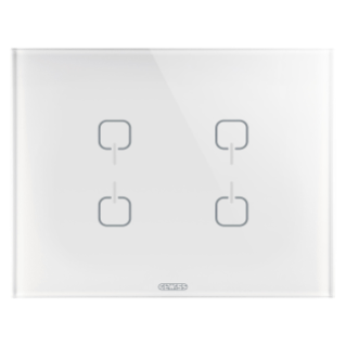ICE TOUCH PLATE KNX - GLASS - 4 SYMBOLS - WHITE - CHORUS