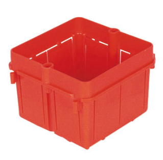 SQUARE FLUSH-MOUNTING BOXES - 2 GANG SECTIONAL - HALOGEN FREE - 70x70x50