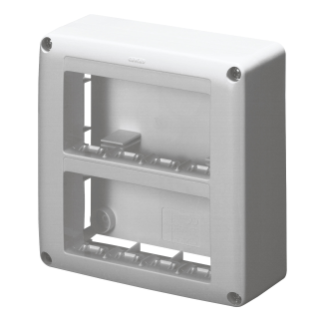 SELF-SUPPORTING DEVICE BOX  FOR SYSTEM DEVICE - SKIRT AND FRAMNE TRUNKING - 8 GANGS - SYSTEM RANGE - ANTHRACITE RAL7021