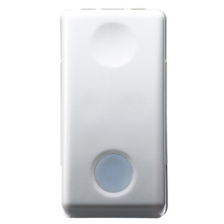 ONE-WAY SWITCH 1P 250V ac - 16AX - WITH REPLACEABLE NEUTRAL LENS - BACKLIT 230 V ac - 1 MODULE - SYSTEM WHITE