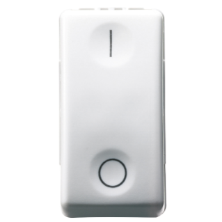 ONE-WAY SWITCH 2P 250V ac - 16AX - NEUTRAL - SYMBOL 0/I - 1 MODULE - SYSTEM WHITE