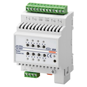 KNX 6A roller shutter actuators - 230V - IP20 - DIN rail mounting