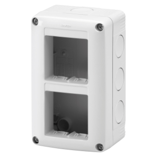PROTECTED ENCLOSURE FOR SYSTEM DEVICES - VERTICAL MULTIPLE - 4 GANG - MODULE 2x2 - RAL 7035 GREY - IP40