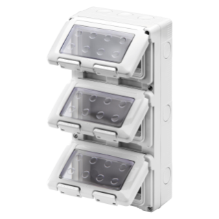 WATERTIGHT ENCLOSURE FOR SYSTEM DEVICES - VERTICAL - 12 GANG - MODULE 4X3 - GREY RAL 7035 - IP55