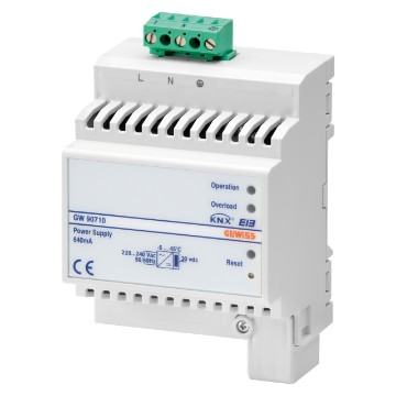 Self-protected electronic power supplies 220-240V - 50/60Hz - IP20 - DIN rail mounting