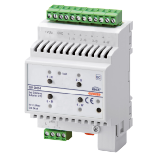 EASY DIMMER ACTUATOR - EASY - CVD - 12-24 V dc - 4 MODULES - DIN RAIL MOUNTING