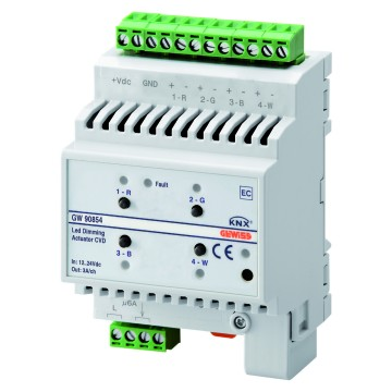 Easy dimmer actuator for LED - IP20 - DIN rail mounting