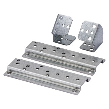 Pair of supports for vertical terminal block