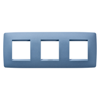 ONE INTERNATIONAL PLATE - IN PAINTED TECHNOPOLYMER - 2+2+2 GANG HORIZONTAL - SEA BLUE - CHORUS