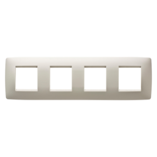 ONE INTERNATIONAL PLATE - IN TECHNOPOLYMER - 2+2+2+2 GANG HORIZONTAL - IVORY - CHORUS
