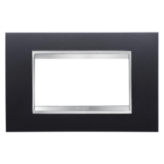 LUX PLATE - IN PAINTED TECHNOPOLYMER - 4 GANG - SLATE - CHORUS