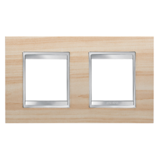 LUX INTERNATIONAL PLATE - IN TECHNOPOLYMER WOOD FINISHING - 2+2 GANG HORIZONTAL - MAPLE - CHORUS
