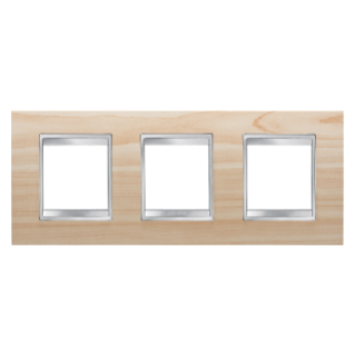LUX INTERNATIONAL PLATE - IN TECHNOPOLYMER WOOD FINISHING - 2+2+2 GANG HORIZONTAL - MAPLE - CHORUS