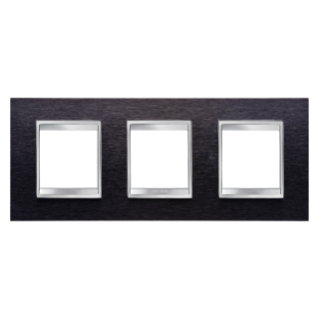 PLAQUE LUX - EN MÉTAL - 2+2+2 MODULES HORIZONTAL - ALUMINIUM NOIR - CHORUS