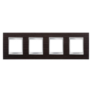 LUX INTERNATIONAL PLATE - IN TECHNOPOLYMER WOOD FINISHING - 2+2+2+2 GANG HORIZONTAL - WENGE - CHORUS